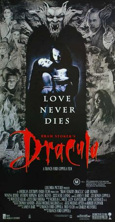 1992 Movie Dracula or Bram Stoker's Dracula is an American film of 1992 based on the novel by Bram Stoker, Irish writer. Date: November 1992 (USA) Director: Francis Ford Coppola Adaptation: Dracula Music composed by: Wojciech Kilar Author Bram Stoker Posters Batman, Horror Movie Posters, Horror Movies, Halloween Movies, Scary Movies, Great Movies, Love Movie, I Movie, Bram Stokers Dracula
