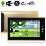 7.0 inch Touch Screen Android 2.2 aPad Style Tablet PC with WIFI 2G -Gold Image File Formats, Ipad Tablet, Book Format, Wifi, Android, Touch, Gold, Style, Swag