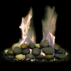 stone decorative basalt heat resistant rocks for fireplaces mv