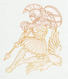 Greek Gods - Athena   Urban Threads: Unique and Awesome Embroidery Designs