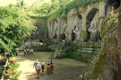 Another part of Goa Gajah or Elephant Cave temple