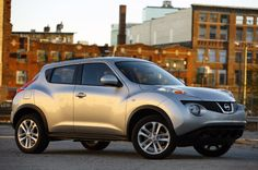 Okay, so maybe I am stretching a point about the Nissan Juke, a mini-crossover all-wheel-drive vehicle,. Nissan Juke 2012, Most Fuel Efficient Cars, Infiniti M, Small Suv, Smart Car, Unique Cars, Used Cars, Cars For Sale, Dream Cars