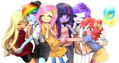 Mane six by quizia.deviantart.com on @DeviantArt