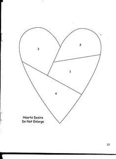 Hearts027, via Flickr. Modelo para hacer un almohadon