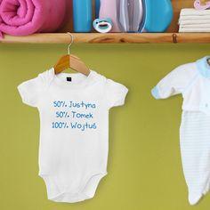 Każdy maluch ma coś z mamy i taty, co dokładnie pokazuje to body - świetny prezent na narodziny dziecka.