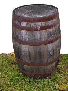 "How to make a ""wooden"" barrel out of cardboard. Using a water cooler for the inside."
