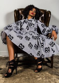 The Angie Dress. Ankara. Wax Print. West African Fashion. Design: Demestiks NY -  I want this NOW