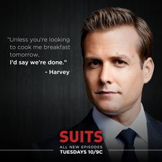 Harvey may dress like a gentleman, but he doesn't always end a conversation like one.