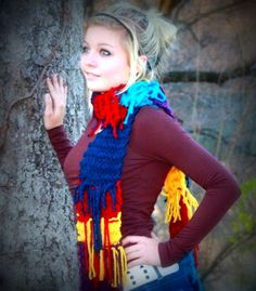 Crazy and Fun Color scarf -- super sassy and super soft!