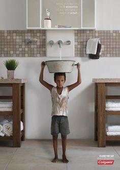 Colgate - Sink Boy - Save Water, Close Tap While Brushing