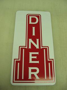 Diner Metal Sign Restaurant Bar Pool Pop Corn 40's 50's Vintage Style Art Deco | eBay