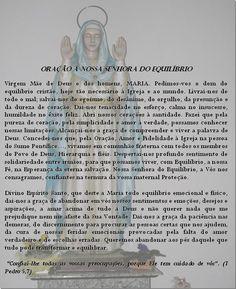 .Oração à N.S. do Equíbrio