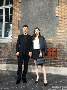 Huang Xiaoming and Angelababy in Paris   http://www.chinaentertainmentnews.com/2016/06/huang-xiaoming-and-angelababy-in-paris.html