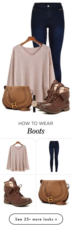 """Combat Boots"" by queenmilliefaith on Polyvore featuring Urban Bliss, Rock & Candy, Chloé and Barbour"