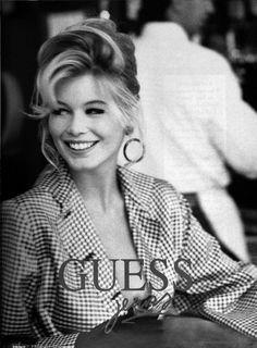 claudia schiffer Guess – 1990 – Photo : Ellen Von Unwerth