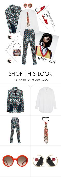 """""""Always in Fashion"""" by naturalbornstyler ❤ liked on Polyvore featuring Equipment, RED Valentino, Alexander McQueen, Marni and Marco de Vincenzo"""