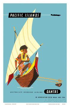 Pacific Islands - Polynesian Outrigger Canoe Posters tekijänä Harry Rogers AllPosters.fi-sivustossa