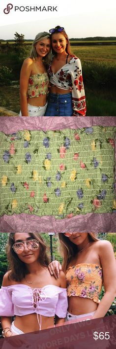 NWT LF Furst of a Kind Smocked tube top NWT LF Green Floral Furst of a Kind Smocked tube top. LF Tops