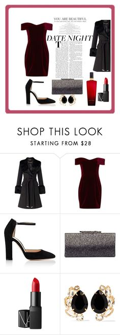 """DATE NIGHT"" by lauzzyad ❤ liked on Polyvore featuring Miss Selfridge, Nicholas, Gianvito Rossi, Jimmy Choo, NARS Cosmetics, Bounkit and Victoria's Secret"