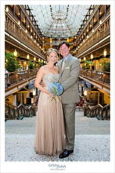 Wedding portrait at The Hyatt Regency Cleveland at The Arcade in downtown.  $250/hr unless there is a wedding (if your wedding is here or you are getting ready here you may use the space for free).