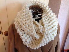 Super Chunky Seed Stitch Infinity Cowl