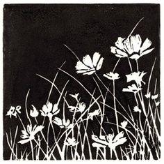 Block Print: Flowers in Field