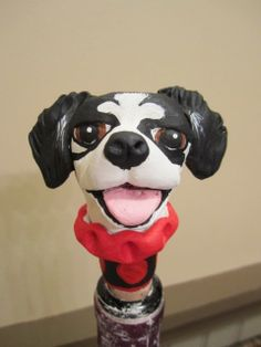 Customize Your Dog  Wine Stopper III by WolfsFolkArt on Etsy, $23.00