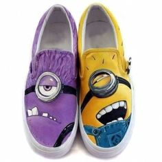 I found 'Despicable Me Hand Painted Shoes Women And Men Casul Canvas Shoes' on Wish, check it out!