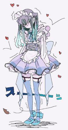 Manga Anime, Anime Demon, Anime Guys, Anime Art, Anime Witch, Slayer Meme, Demon Slayer, Accel World, Maid Outfit