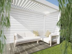 Cedral Click has been used to create a stunning pergola #Cedral #Click #White #C01