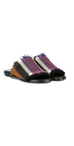 PROENZA SCHOULER striped woven sliders, explore new season arrivals at Farfetch now.