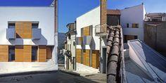 vivienda modular entre medianeras. arquitectura modular en entorno rural. modus-vivendi