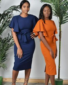 J Lindeberg Womens Golf Clothing Classy Work Outfits, Classy Dress, Chic Outfits, Ankara Long Gown Styles, African Wear Dresses, Sunday Outfits, Work Dresses For Women, Corporate Attire, African Print Fashion