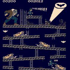 Batman: El Caballero de la Noche Asciende (The Dark Knight Rises, 2012), estilo Donkey Kong