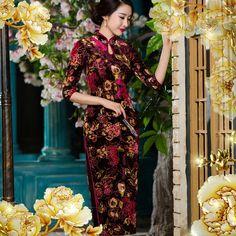 chinese dress fishtail evening dresses            https://www.ichinesedress.com/