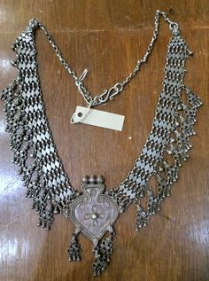 tribalexport - antique tribal old silver choker necklace ethnic silver jewelry -26, $899.00 (http://www.tribalexport.com/antique-tribal-old-silver-choker-necklace-ethnic-silver-jewelry-26/)