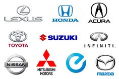 Japanese cars have one of the highest global reach, as you can see in the list and logos of top Japanese car brands names that are hot favorites. Cool Car Stickers, Jdm Stickers, Car Brands Logos, Car Logos, Jdm Logo, Best Racing Cars, 2012 Nissan 370z, Toyota, Autos