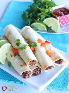 Crunchy Vegetarian Taquitos