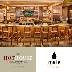 For over 20 years The Hot House Restaurant & Bar in Toronto offers guests great food and wine with exceptional service and a comfortable atmosphere.  The restaurant uses Melia's fresh and quality Greek products!
