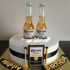 Corona Beer Bottle Bucket Birthday Cake - Decorated in ...