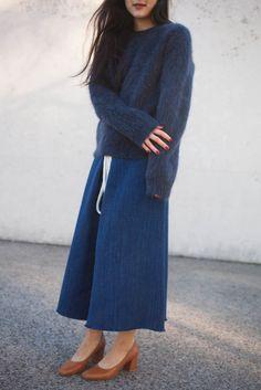 CristaSeya Visone Sweater in Smoky Navy