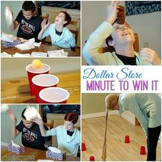 Dollar Store Minute to Win It party