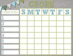 Mrs. This and That: Free chore chart printable - Jacob's chore chart