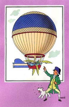 Ballon 08 : Le ballon de Blanchard // his hat! and wig! i can't