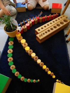 cilinderblokken en gekleurde cilinders - MontessoriNet