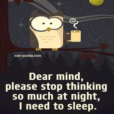 Dear Mind Please Stop Thinking So Much I Need To Sleep