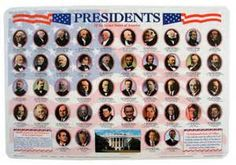 Painless Learning Placemats Presidents Placemat (Set of Happy Presidents Day, Us Presidents, Rainbow Resource, States In America, United States, Tabletop Accessories, Thing 1, American Presidents