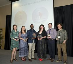 The winners of the 2016 Ezra Jack Keats Book Award proudly display their awards following a ceremony at the Fay B. Kaigler Children's Book Festival, at The University of Southern Mississippi in Hattiesburg, on April 7th.   Photo by: Kathy L. Dunn