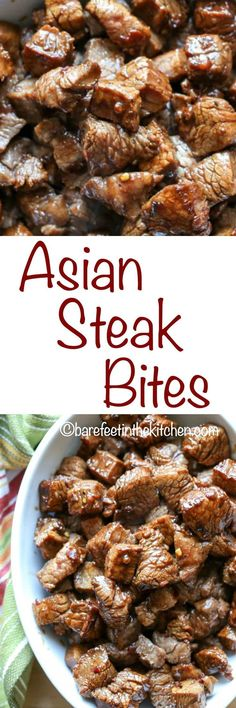 asian steak bites take just a few minutes to make and the result is bite