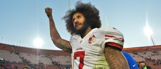 Dec 24, 2016; Los Angeles, CA, USA; San Francisco 49ers quarterback Colin Kaepernick (7) pumps his fist as he acknowledges the cheers from the 49ers' fans after leading his team to a 22-21 come-from-behind win over the Los Angeles Rams at Los Angeles Memorial Coliseum: Reuters via USA Today Sports